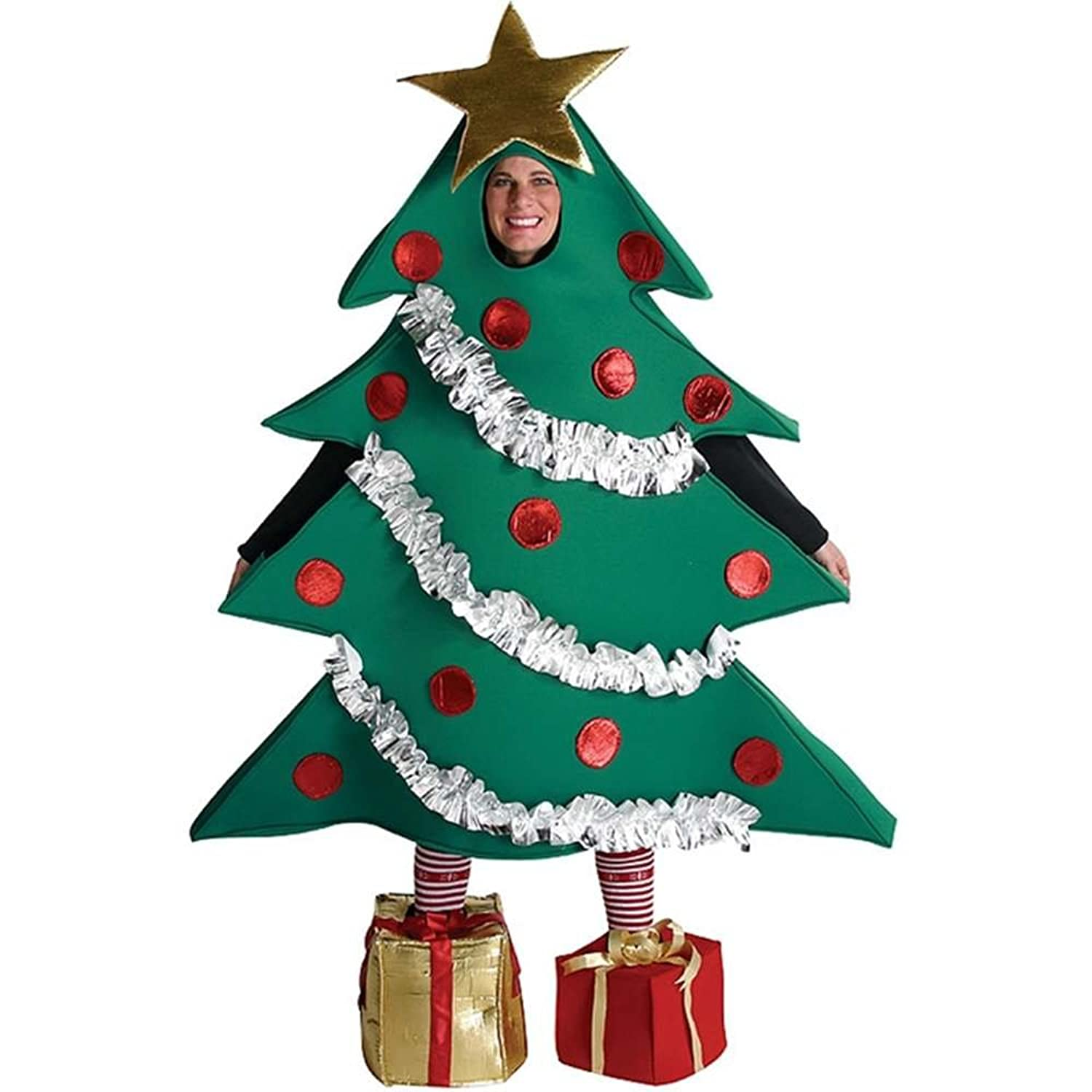 Amazon.com: Christmas Tree Costume - One Size - Chest Size 48-52 ...