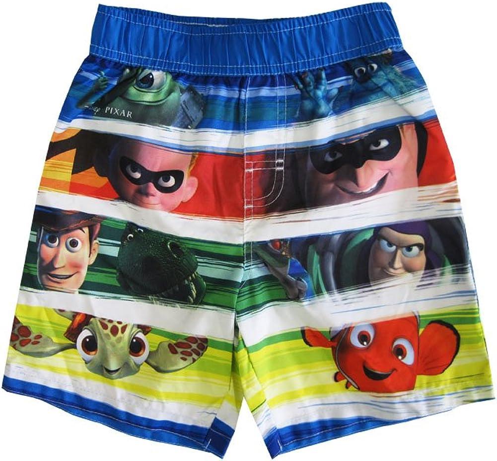 Disney Little Boys Multi Color Pixar Character Print Swimwear Shorts 2-4T