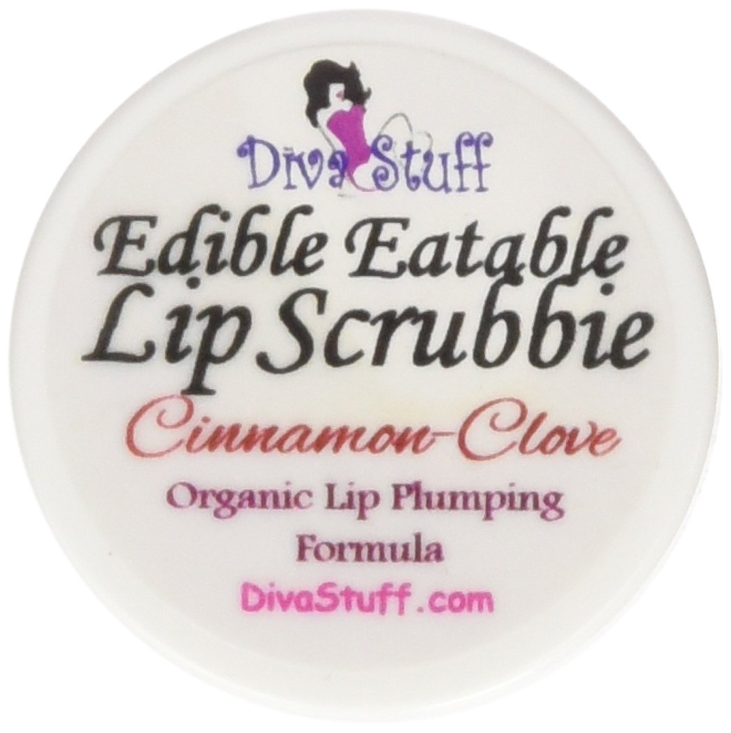 Cinnamon & Clove Organic Lip Plumping Formula Lip Scrubbie by Diva Stuff - 1/4 ounce