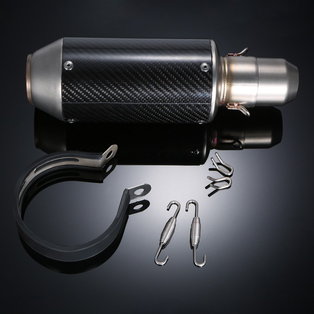 KKmoon 51mm Carbon Fiber Cover Refit Silencieux Tuyau pour motos ATV Universal