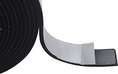 """32.8 X /"""" Seal Strip Black Double-Sided Adhesive Weather High Density Foam Tape"""