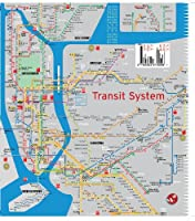 Nyc Subway Map Scan.Terramaps Nyc Manhattan Street And Subway Map Waterproof Ar