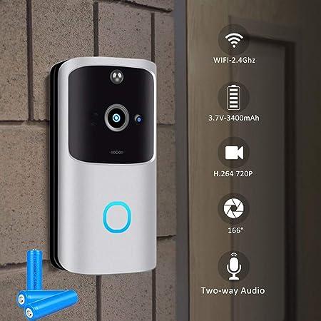 Ring Wi-Fi Enabled Video Doorbell with Audio Intercom Front Door Security Camera
