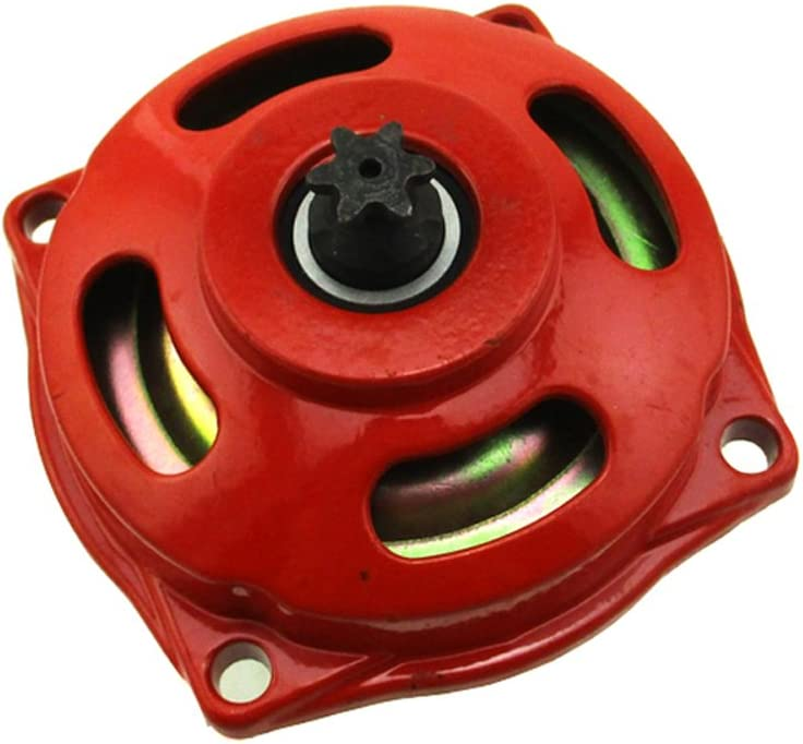 STONEDER Red 25H 6 Tooth Clutch Drum Gear Box For 2 Stroke 47cc 49cc Engine Mini Moto Pocket Bike