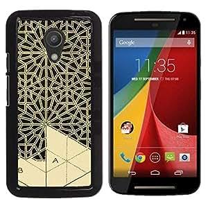 For Motorola Moto G2 II / Moto G (2nd gen) / Moto G (2014) , S-type® Art Handicraft Carving Lace - Arte & diseño plástico duro Fundas Cover Cubre Hard Case Cover