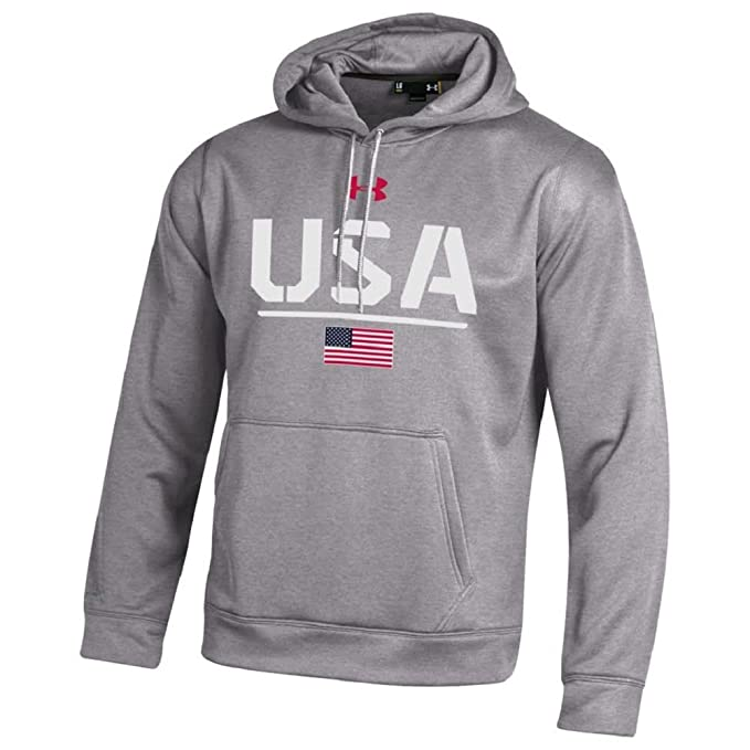 Under Armour hombres s-armour fleece-usa-hoodie sudadera - 00-