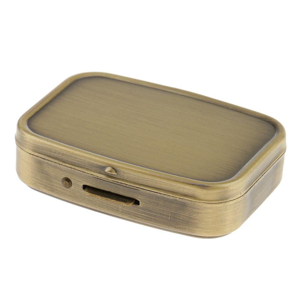 Mini Aufbewahrungsbox Kompakt Pillenbox Reise tragbar Organizer zwei-F/ächer Pillendose MagiDeal Retro