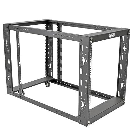 Amazon.com: TRIPP LITE 12U 4-Post Open Frame Rack Server Cabinet ...