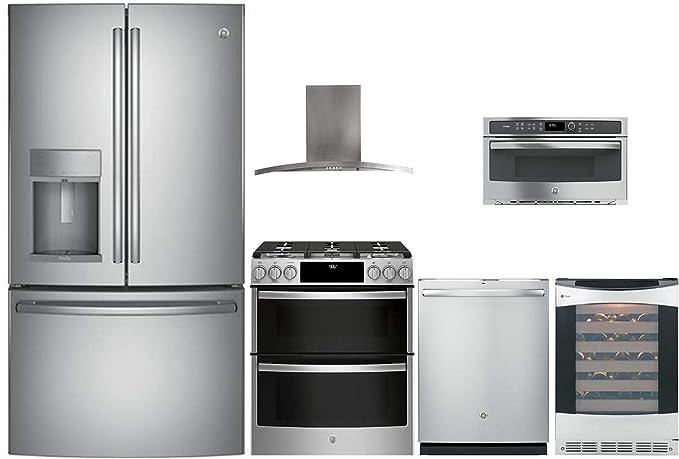 Amazon.com: GE Profile 6 Pcs Kitchen Package with PYD22KSLSS ...