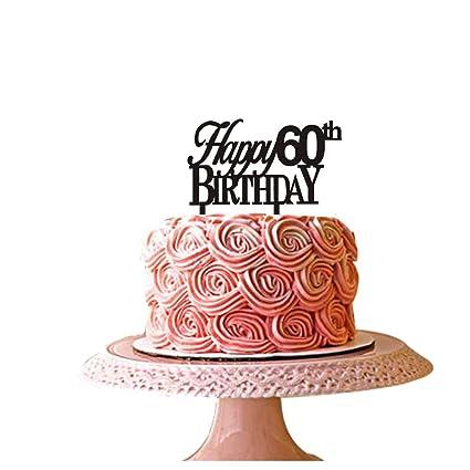 Pleasant Happy 60Th Birthday Cake Topper For 60Th Birthday Party Decor Funny Birthday Cards Online Alyptdamsfinfo