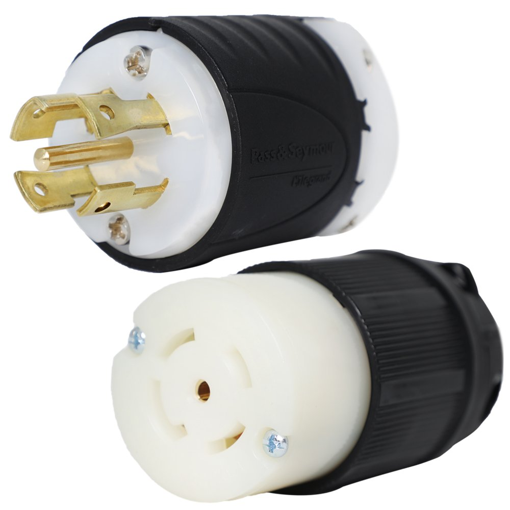 NEMA L21-30P and L21-30R Plug and Connector Set - Rated for 30A, 120/208V, 5-Wire - Iron Box Part # IBX-L2130PR - UL LISTED
