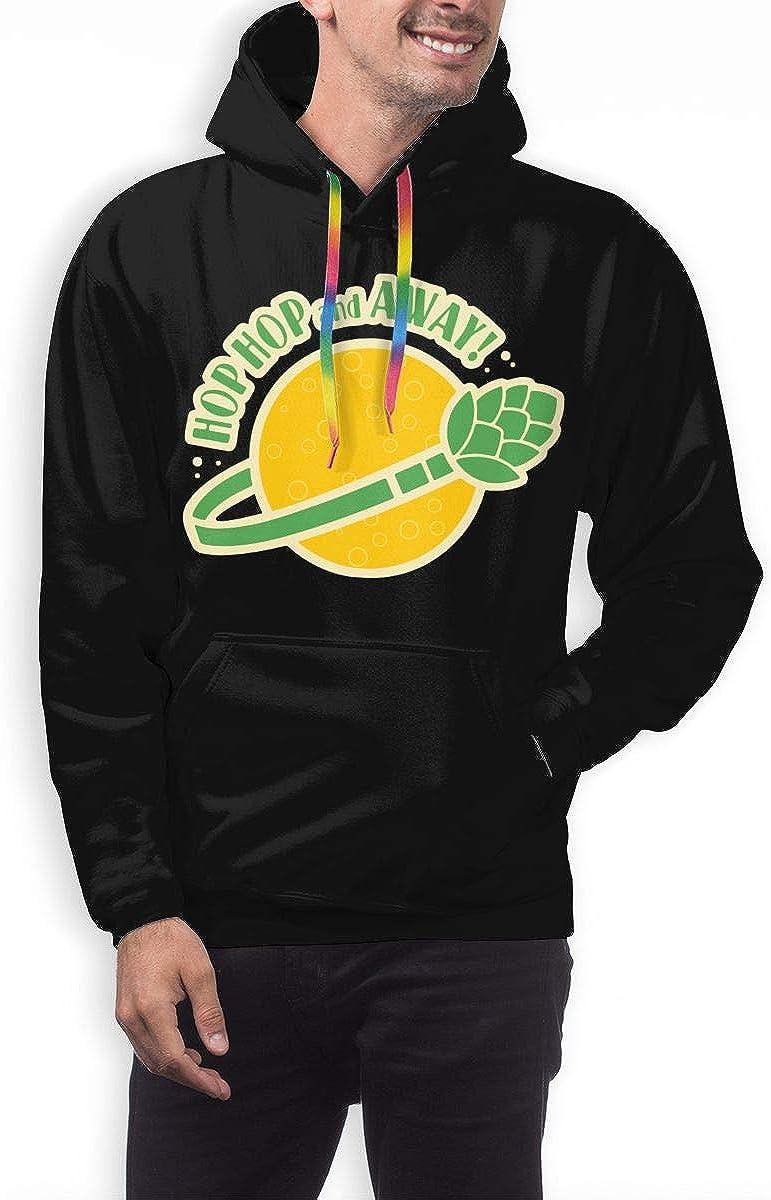 TB92ed/&CW Hop Hop and Away Pullover Hoodie Mens Hooded Sweatshirts Long Sleeve Tops