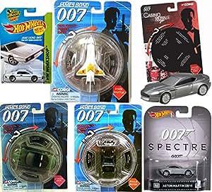 James Bond Hot Wheels Casino Royale Goldfinger Spectre 007 Car Set Corgi Aston Martin DBS + Rolls Royce Moonraker Space Shuttle Die Another Day Jaguar XKR Die-Cast Cars Sean Connery Lotus DB10 Retro