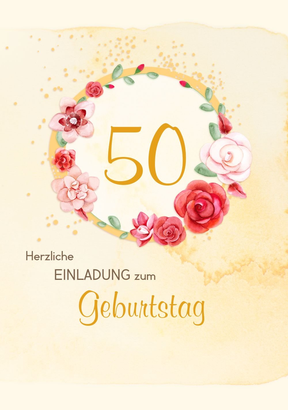 Geburtstagseinladung Aquarell Rosan 50 50 50 Foto, 20 Karten, RosaRosa B073D2XDPB | Billig ideal  | Nutzen Sie Materialien voll aus  | Export  76f51d