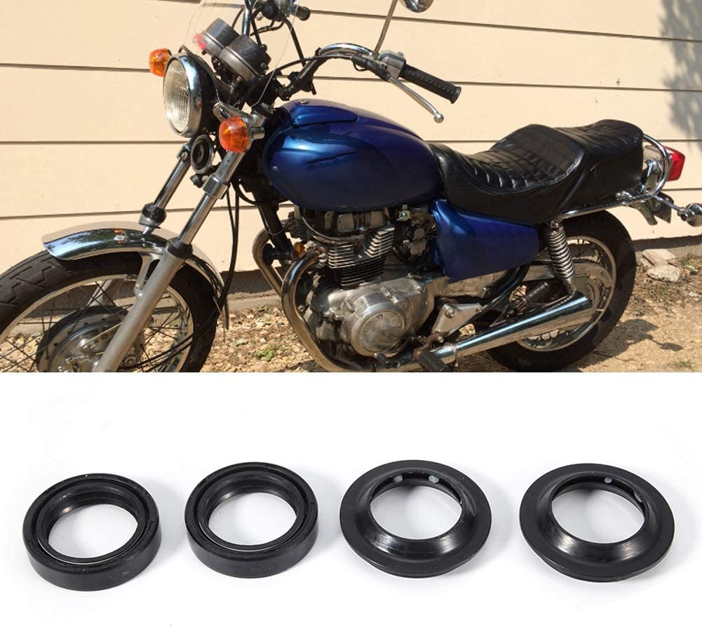Oil Seal,Front Damper Oil Fork Seals Dust Boots Wiper Kit Fits for Honda CB400 33x46x11mm