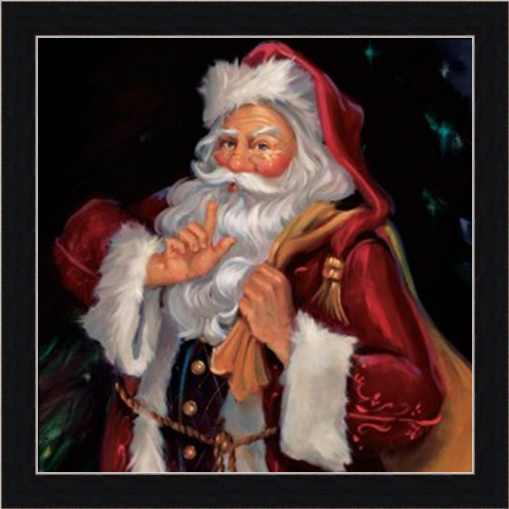 Amazon shhh santa by susan comish old fashioned mr claus amazon shhh santa by susan comish old fashioned mr claus 15x15 framed art print picture christmas art prints posters prints jeuxipadfo Choice Image