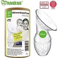 Haakaa Manual Breast Pumps Silicone Breastpump Breastfeeding Pump Milk Pump 100% Food Grade Silicone (3oz/90ml)