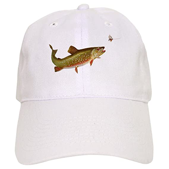 43cc21147c16d Amazon.com  CafePress - Vintage Trout Fishing Illustration Baseball -  Baseball Cap with Adjustable Closure
