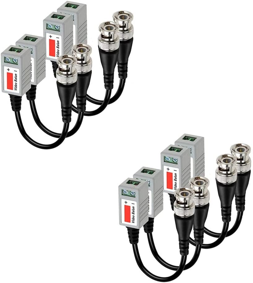Passive CCTV Video Balun BNC Plug HD AHD//TVI//CVI  over a Twisted Pair CAT5  Pair
