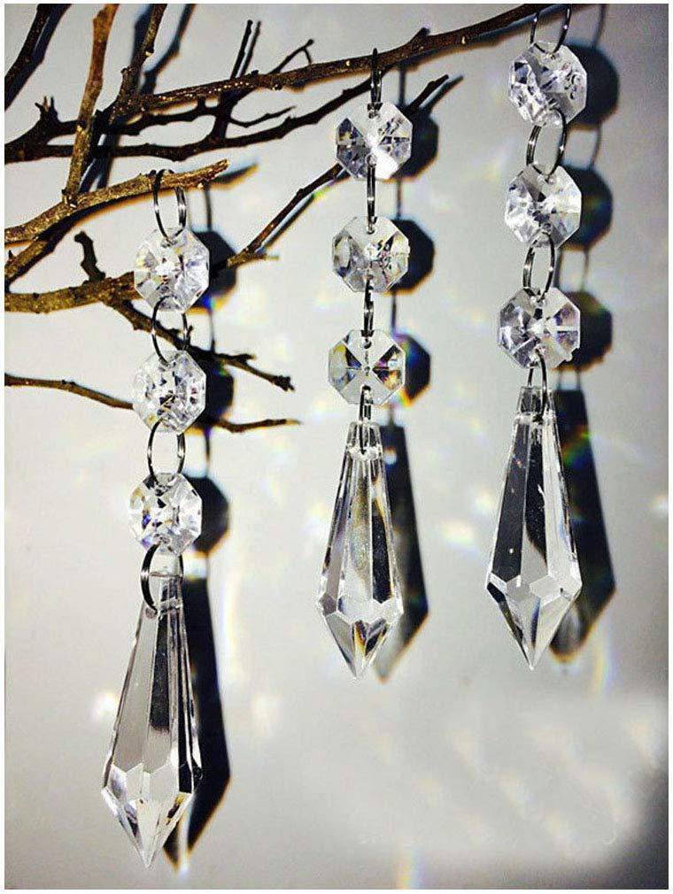30pcs DIY Wedding Party Decor Acrylic Crystal Bead Pendant Garland Chandelier Hanging Type 3