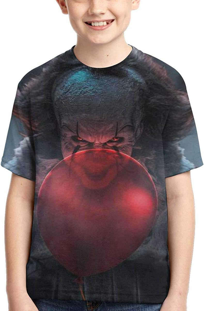 Joess Pen-ny-Wise T-Shirt 3D Full-Width Printing for Teenager Boys Girls Kids Summer Polyester Shirts
