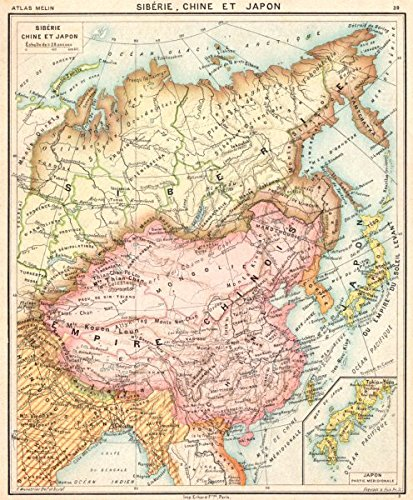 Asia Siberie Chine Et Japon Inset Map Of Japon Partie Meridionale