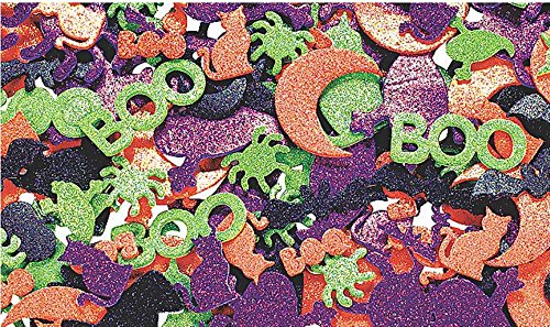 Glitter Self-Adhesive Halloween Shapes - Art & Craft Supplies & Foam Shapes