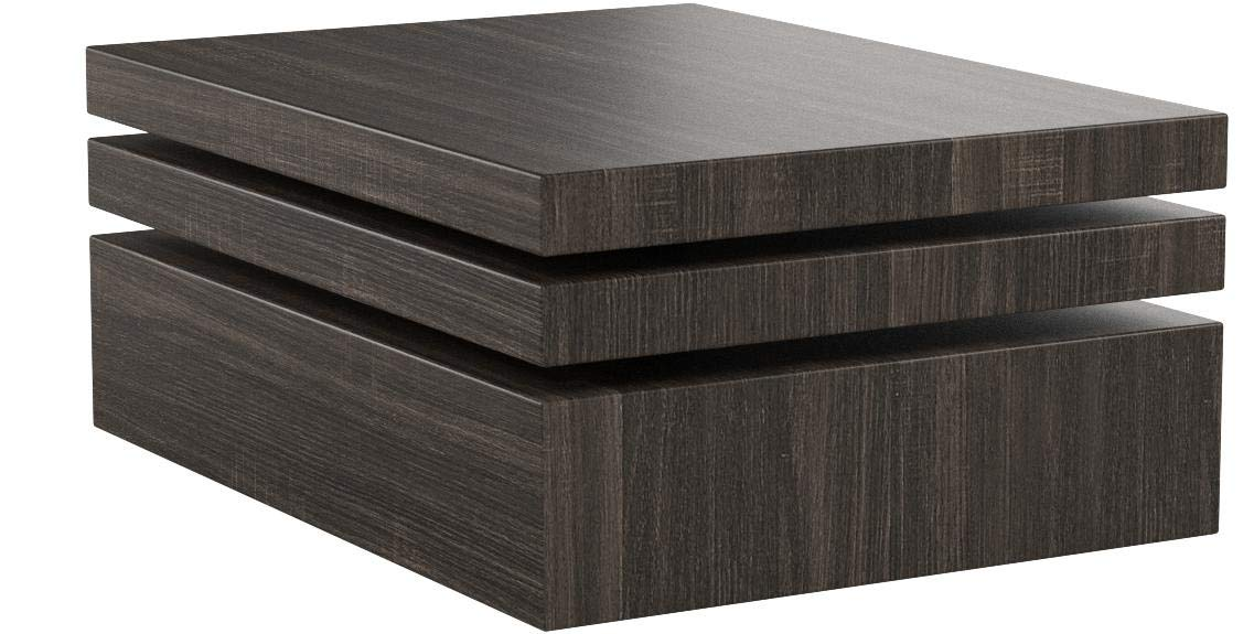 Christopher Knight Home Haring Square Rotating Wood Coffee Table, Black Oak by Christopher Knight Home