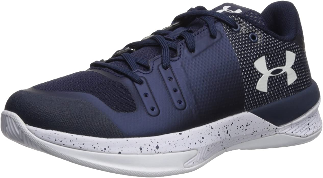 [アンダーアーマー] Women's Block City Ankle-High Volleyball Shoe Midnight 青 / 白い 6.5 M US