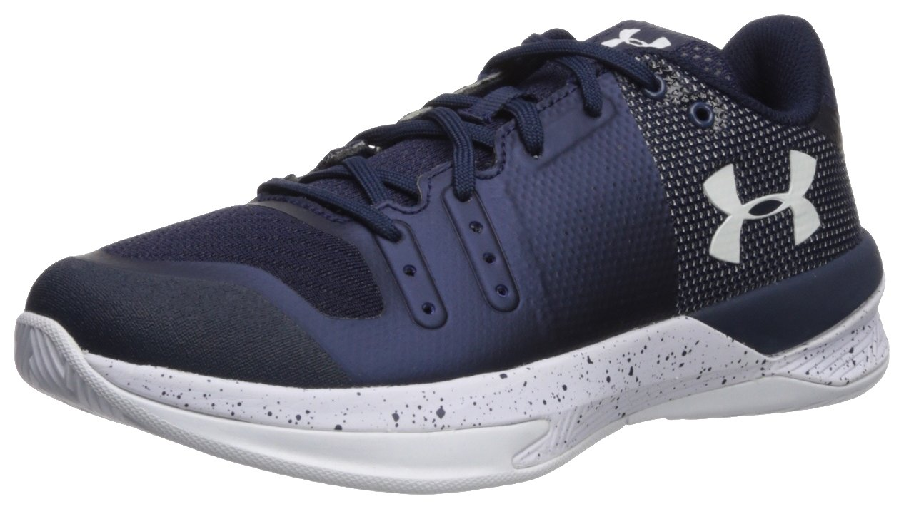Under Armour Men's Block City Volleyball Shoe B074R4L75Q 10 M US|Midnight Navy (410)/White