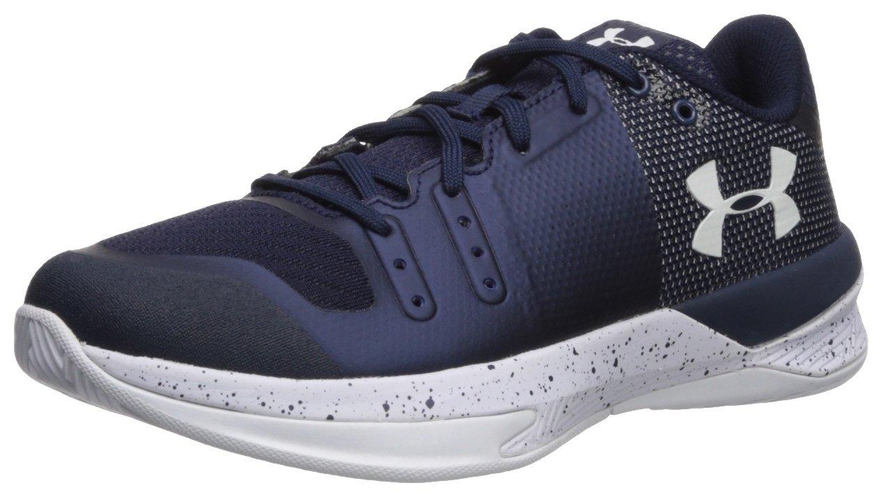 Under Armour Women's Block City Volleyball Shoe, Midnight Navy (410)/White, 5