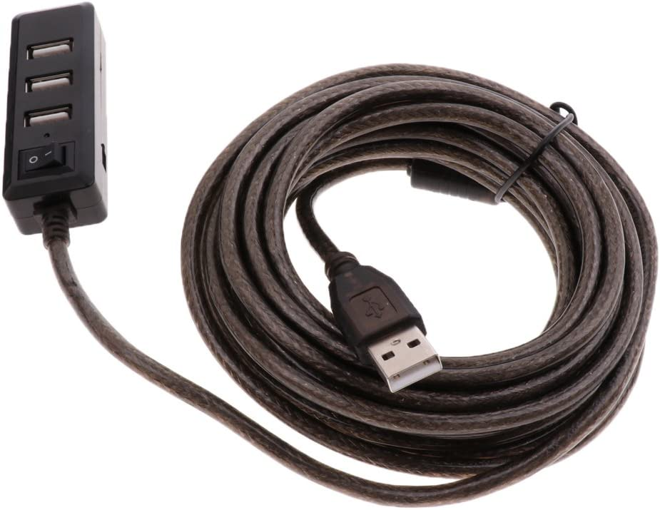 USB 2.0 HUB 4 Port USB Hub Splitter for MacBook Laptop PC Computer HDD Black