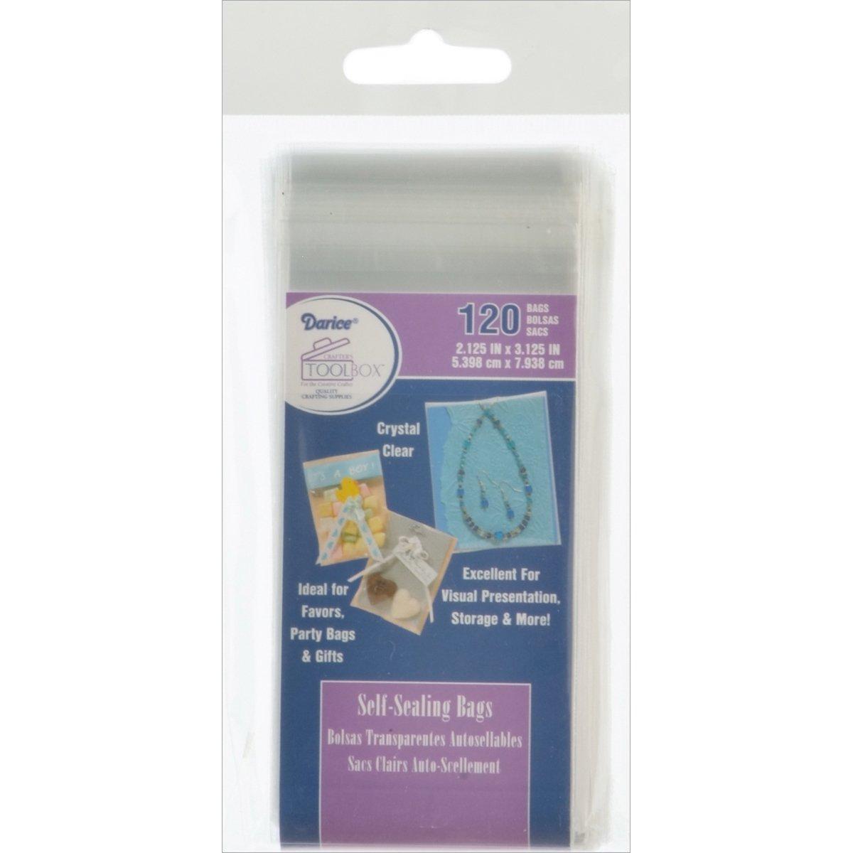 Darice Self-Sealing Bags 120/Pkg-2.125