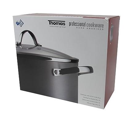 Thomas olla antiadherente para cocinar 24 cm, 5 l, cazuelas, ollas ...