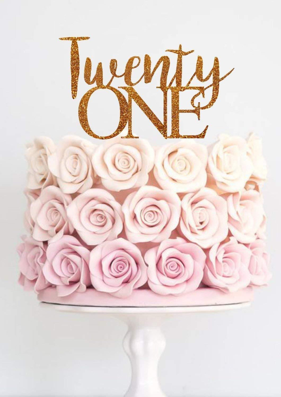 Fine Amazon Com Twenty One Cake Topper Birthday Party Cake Topper 21St Birthday Cards Printable Trancafe Filternl
