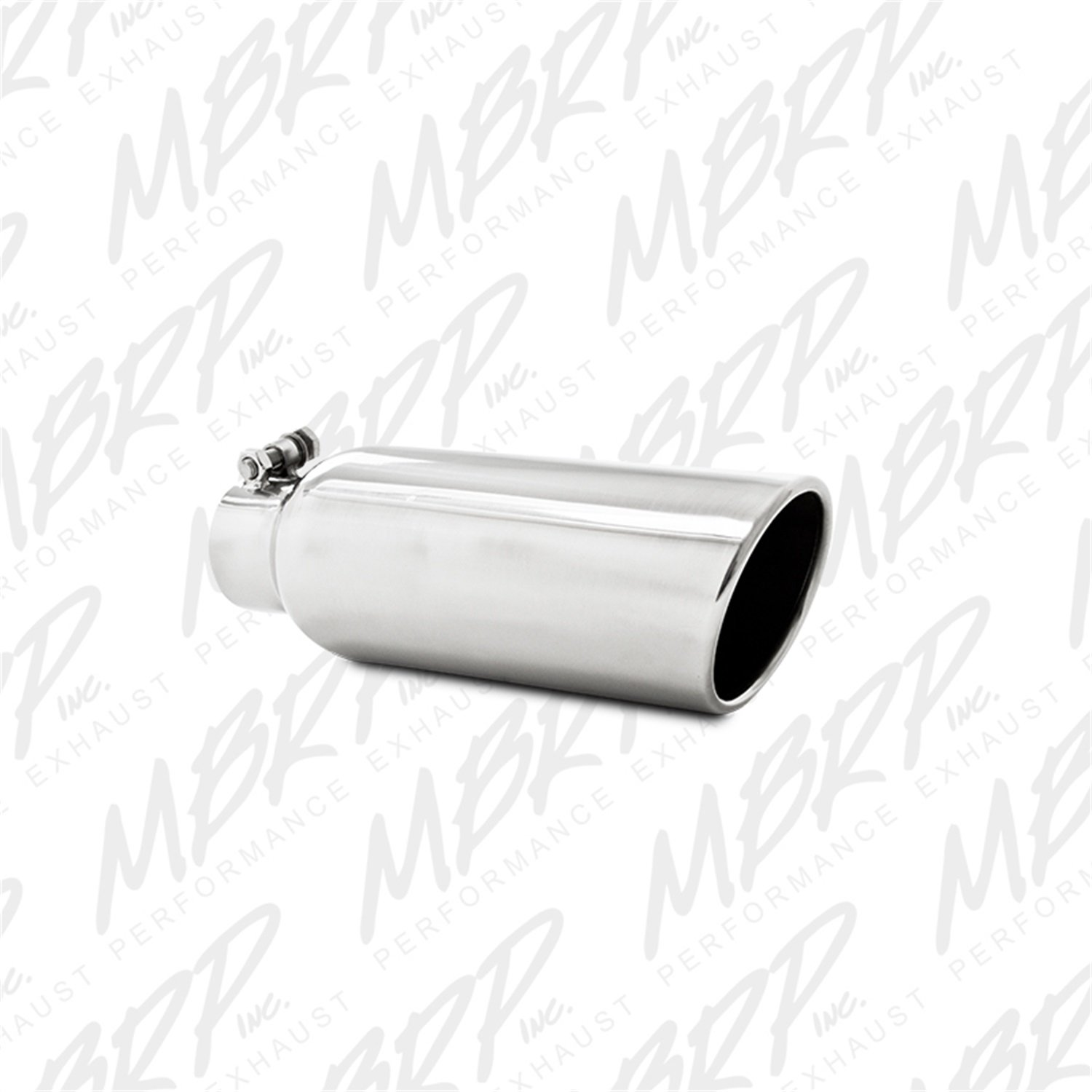 MBRP T5150 4' O.D. 2.5' Inlet 12' Length T304 Stainless Steel Angled Cut Rolled End Clampless Exhaust Tip MBRP Exhaust