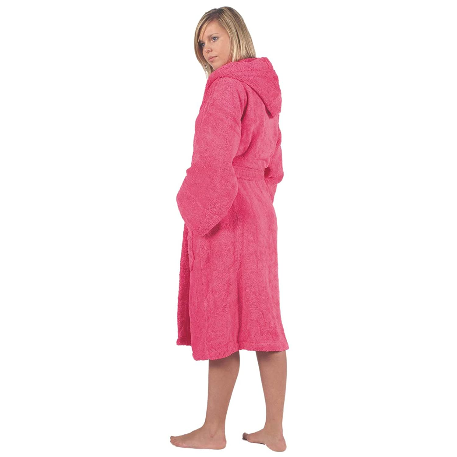 c919f55f46 TowelsRus 100 % Egyptian Cotton Hooded Unisex Dressing Gown Thick  Towelling