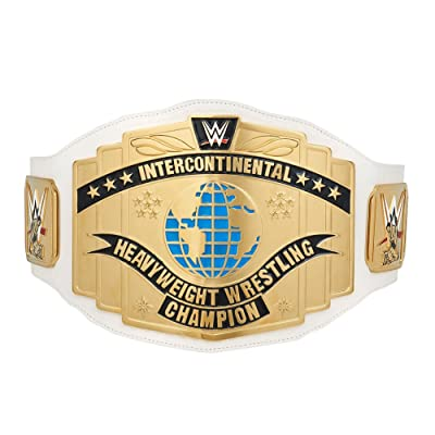 White Intercontinental Championship Commemorative Title Belt (2014): Toys & Games