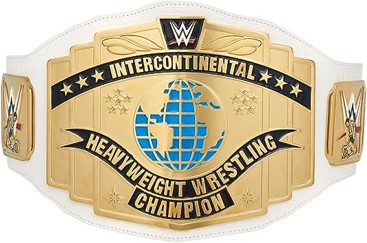 Wwe Mattel lucha libre figura Cinturón Blanco Intercontinental título del campeonato