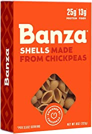 Banza Chickpea Pasta – High Protein Gluten Free Healthy Pasta – Shells (Pack of 6)