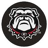 NCAA University of Georgia Bulldogs Puck Mat Round Area Rug