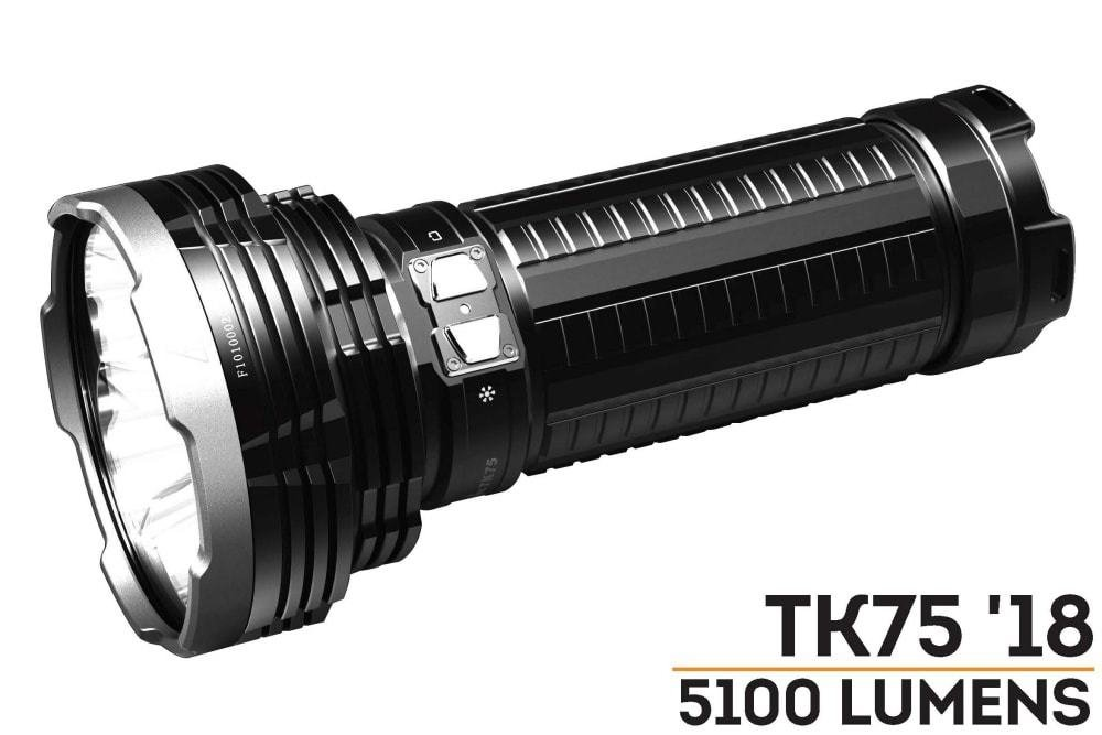 FENIX TK75 5100 Lumen 929 yards beam 2018 Edition CREE LED USB rechargeable Flashlight with Four Fenix rechargeable 18650 Batteries and 4 X EdisonBright CR123A batteries bundle by EdisonBright (Image #3)