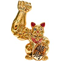 F Fityle Big Arm Lucky Cat Figurines Feng Shui Statue Home Table Decor Ornament