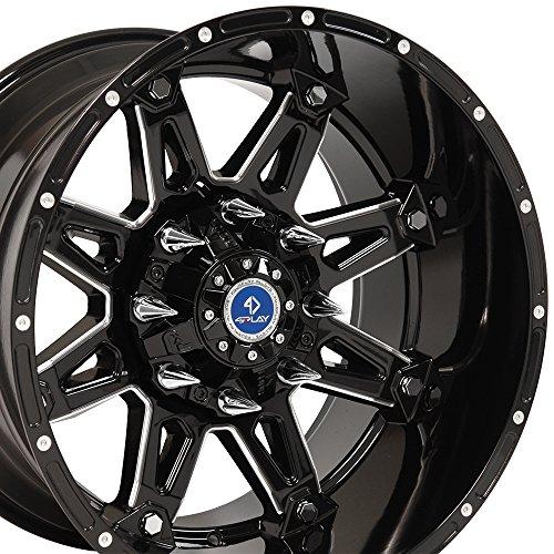 black 20 truck rims - 3
