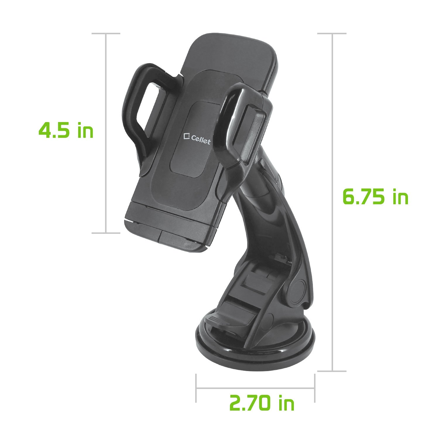 Car Phone Mount,Washable Strong Sticky Gel Pad with One-Touch Design Windshield or Dashboard Car Phone Holder for iPhone X//8//8Plus//7//7Plus//6s//6Plus Galaxy Note 8 Galaxy S8//S8 Plus