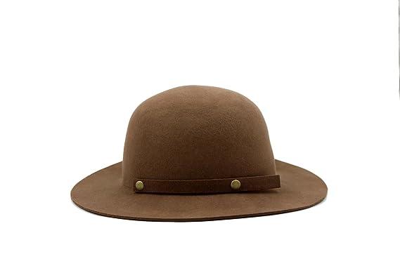 be224a81745 AccessHeadwear Alpas Ladie s Jayne Light Coffee 100% Wool Felt Packable Cloche  Hat w Bow at Amazon Women s Clothing store