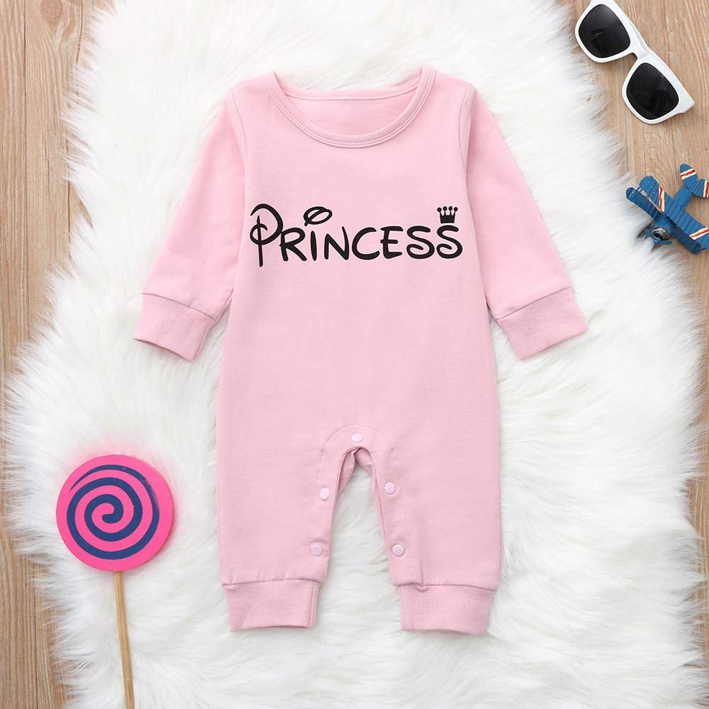 Easong Unisex Infant Letter Hooded Romper Long Sleeves Jumpsuit Bodysuit Cotton Winter Warm Romper Jumpsuit Outfits Christmas Outfits Toddler Jumpsuit Pajamas Sleepwear Outfit