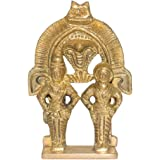 Swayambhu Brass Prabhal Vittal Rukmini - 10 CM