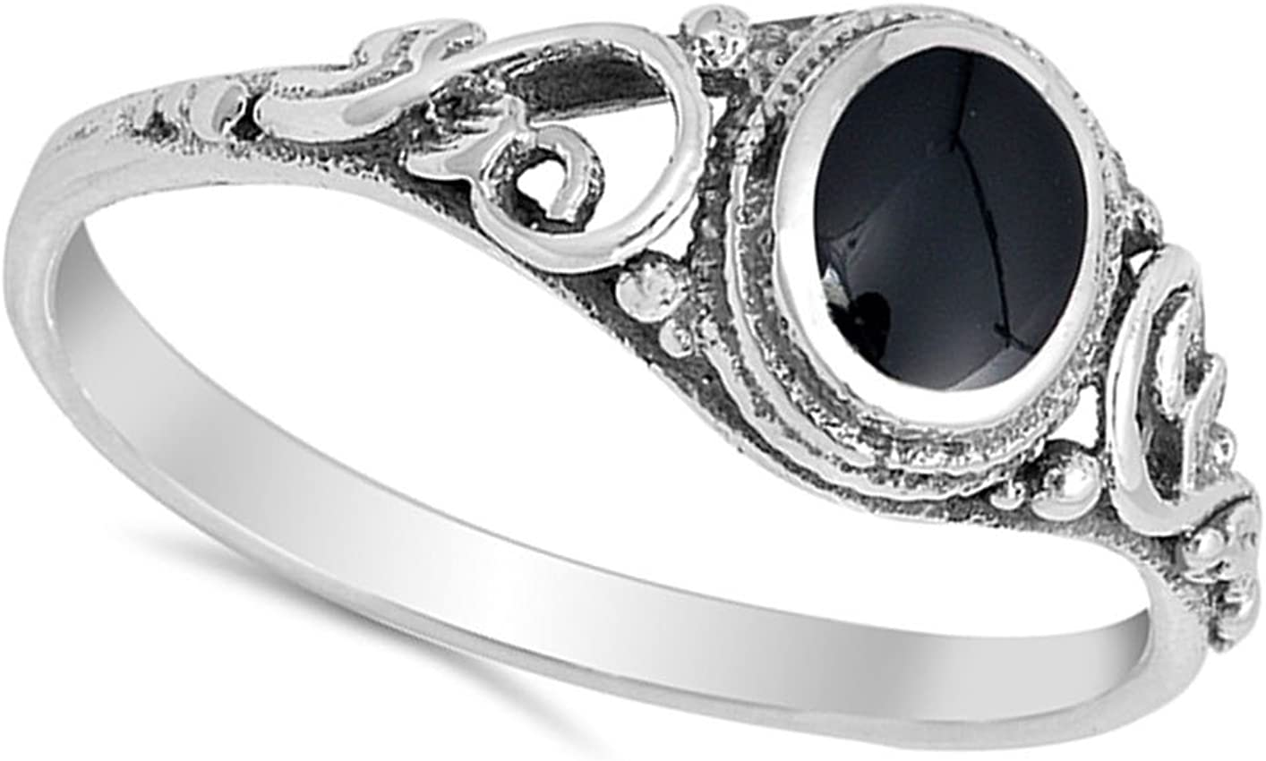 Amazon Com Anillo De Plata Esterlina Elija Su Color Jewelry