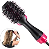 Hot Air Brush, One Step 2-in-1 Hair Dryer & Styler & Volumizer Multi-functional Straightening & Curly Hair Brush with Negative Ions, Salon Styling Beauty Tools & Accessories